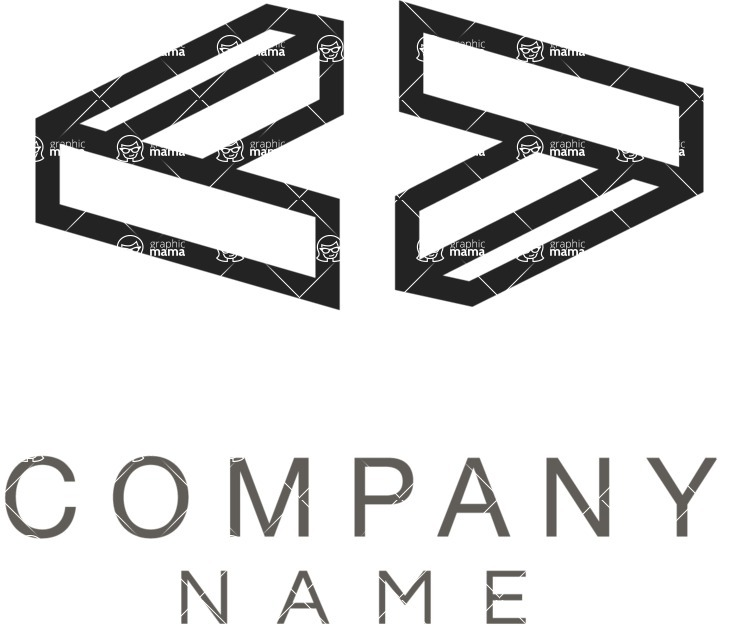 Business Logo Templates - vector graphics in a pack from GraphicMama - Business logo connection black