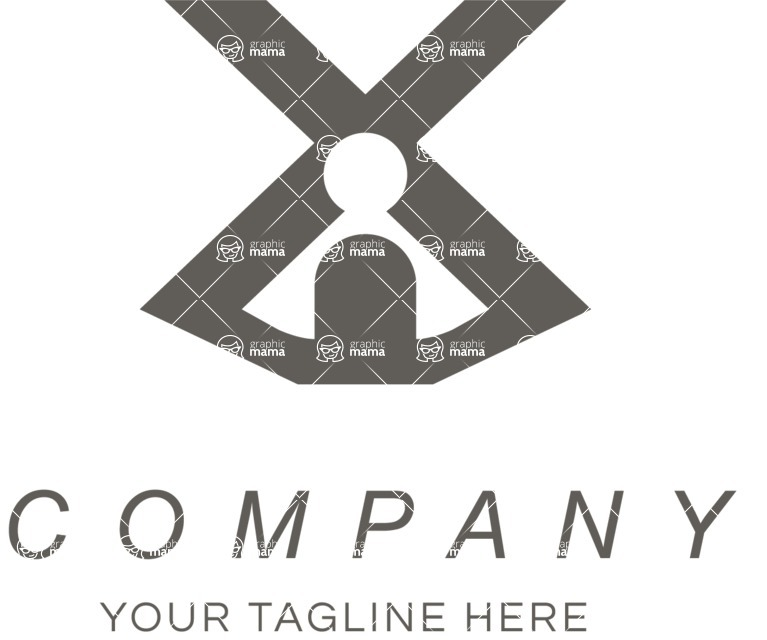 Business Logo Templates - vector graphics in a pack from GraphicMama - Company logo black cross
