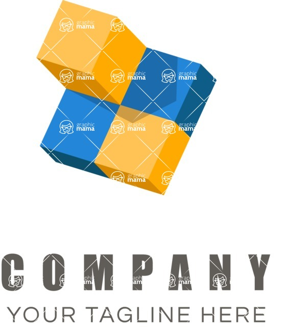 Business Logo Templates - vector graphics in a pack from GraphicMama - Business logo cubes color