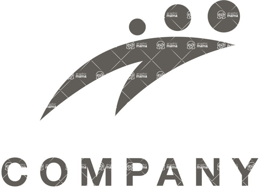 Business Logo Templates - vector graphics in a pack from GraphicMama - Company logo swoosh black and white