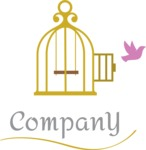 Business Logo Templates - vector graphics in a pack from GraphicMama - Company logo bird cage color