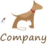 Business Logo Templates - vector graphics in a pack from GraphicMama - Creative Dog and Cat Pet Animal Logo Design
