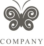 Business Logo Templates - vector graphics in a pack from GraphicMama - Business logo butterfly black
