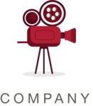 Business Logo Templates - vector graphics in a pack from GraphicMama - Movie Company Logo Design with a Camera