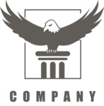 Business Logo Templates - vector graphics in a pack from GraphicMama - Company logo eagle black