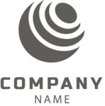 Company logo planet black