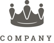 Business Logo Templates - vector graphics in a pack from GraphicMama - Company logo crown black