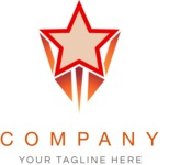Business Logo Templates - vector graphics in a pack from GraphicMama - Company Logo Design with star in Superhero Style