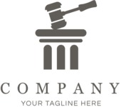 Business logo law black