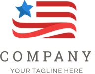 Business Logo Templates - vector graphics in a pack from GraphicMama - Company Logo Design with USA Flag