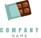 Business Logo Templates - vector graphics in a pack from GraphicMama - Modern Chocolate and Sweets Company Logo Design