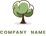 Business Logo Templates - vector graphics in a pack from GraphicMama - Modern Cartoon Tree Logo Design for Eco Company