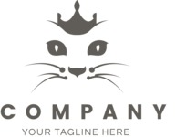 Business Logo Templates - vector graphics in a pack from GraphicMama - Cat Queen Vector Logo Design for Beauty Company
