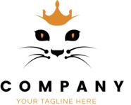 Business logo cat color