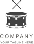 Business Logo Templates - vector graphics in a pack from GraphicMama - Modern Music Band Company Logo Design - Black and White