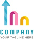 Company growth logo color