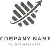 Dynamic business logo black