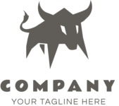 Business Logo Templates - vector graphics in a pack from GraphicMama - Creative Angry Bull Logo Design