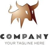 Business Logo Templates - vector graphics in a pack from GraphicMama - Business logo bull color