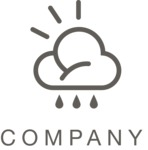 Company logo weather black