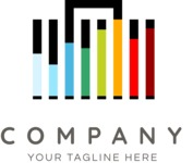 Business Logo Templates - vector graphics in a pack from GraphicMama - Company logo bars color