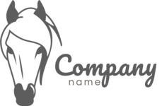 Business Logo Templates - vector graphics in a pack from GraphicMama - Creative Horse Logo Design - Black and White