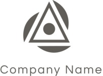 Business logo triangle black