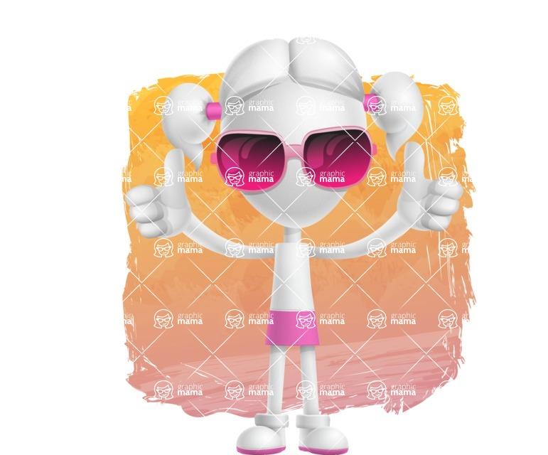 Cute Vector 3D Schoolgirl Cartoon Character AKA Annie Pigtails - Shape 12