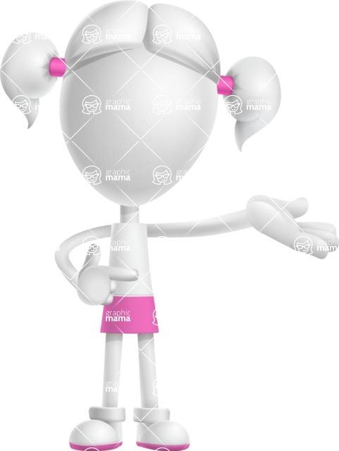 Cute Vector 3D Schoolgirl Cartoon Character AKA Annie Pigtails - Showcase