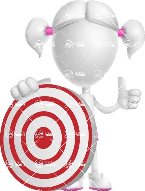 Cute Vector 3D Schoolgirl Cartoon Character AKA Annie Pigtails - Target