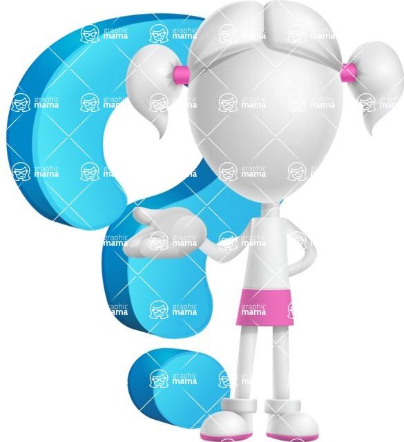 Cute Vector 3D Schoolgirl Cartoon Character AKA Annie Pigtails - Question