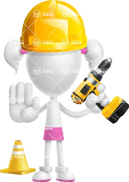 Cute Vector 3D Schoolgirl Cartoon Character AKA Annie Pigtails - Under Construction 2