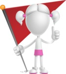 Cute Vector 3D Schoolgirl Cartoon Character AKA Annie Pigtails - Checkpoint