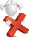 Cute Vector 3D Schoolgirl Cartoon Character AKA Annie Pigtails - Delete