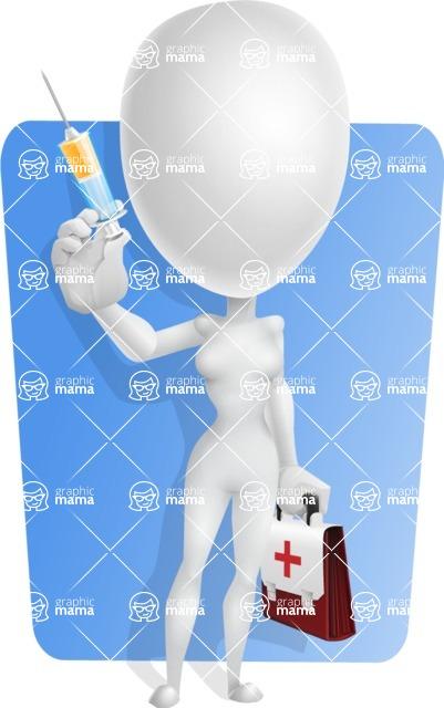 Vector 3D Woman Model Cartoon Character AKA Meisy - Shape6