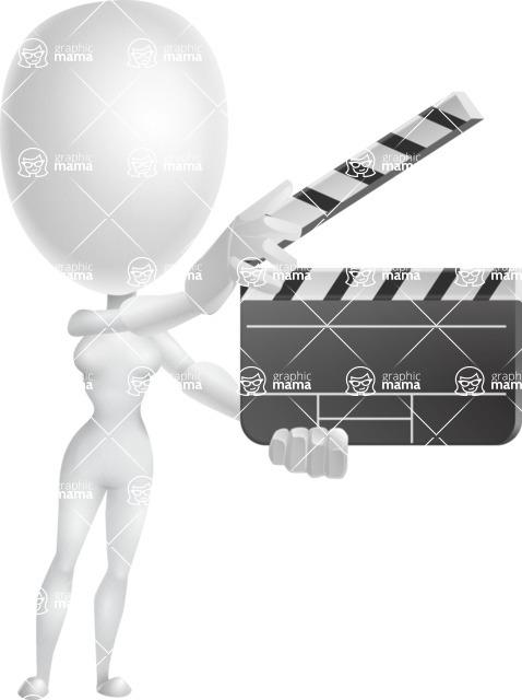 Vector 3D Woman Model Cartoon Character AKA Meisy - Movie