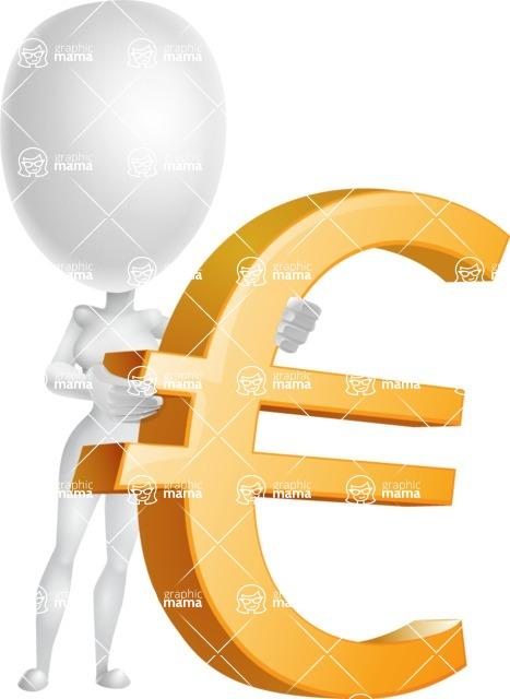 Vector 3D Woman Model Cartoon Character AKA Meisy - Euro