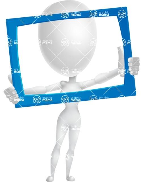 Vector 3D Woman Model Cartoon Character AKA Meisy - Frame