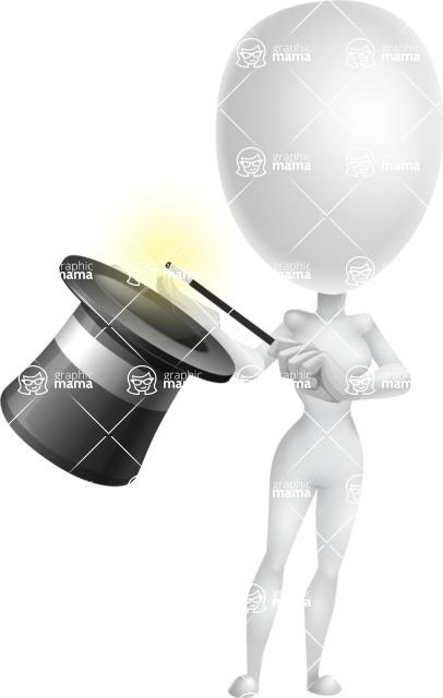 Vector 3D Woman Model Cartoon Character AKA Meisy - Abracadabra