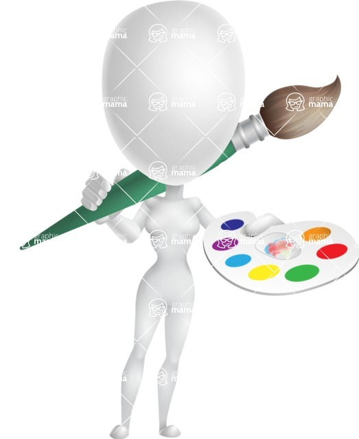Vector 3D Woman Model Cartoon Character AKA Meisy - Artist