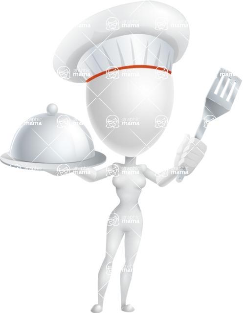 Vector 3D Woman Model Cartoon Character AKA Meisy - Chef