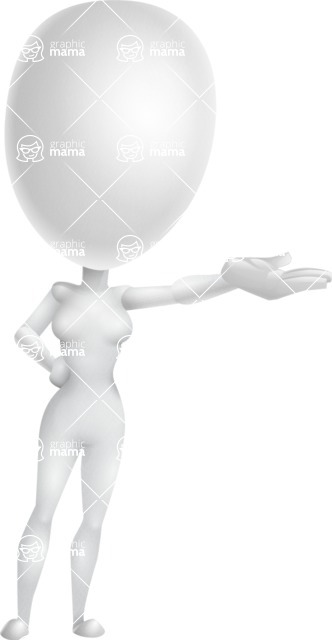 Vector 3D Woman Model Cartoon Character AKA Meisy - Showcase