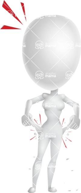 Vector 3D Woman Model Cartoon Character AKA Meisy - No Money