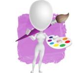 Vector 3D Woman Model Cartoon Character AKA Meisy - Shape12