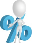 Vector 3D Woman Model Cartoon Character AKA Meisy - Percent