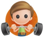 Simple Cute Boy Vector 3D Cartoon Character AKA Little Melvin - Shape 2