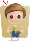 Simple Cute Boy Vector 3D Cartoon Character AKA Little Melvin - Shape 6