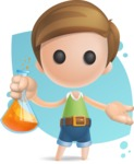 Simple Cute Boy Vector 3D Cartoon Character AKA Little Melvin - Shape 8