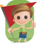 Simple Cute Boy Vector 3D Cartoon Character AKA Little Melvin - Shape 9