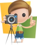 Simple Cute Boy Vector 3D Cartoon Character AKA Little Melvin - Shape 10